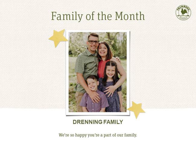 june family of the month drenning