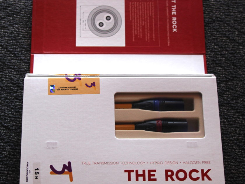 Van Den Hul The Rock 3T 1.5m XLR Interconnects