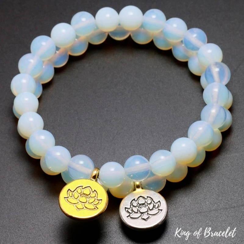 Bracelet Mala en Perles de Pierre de Lune - King of Bracelet
