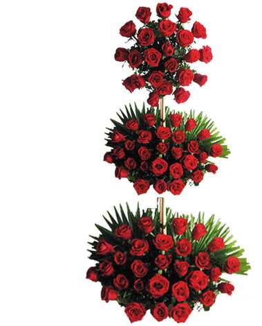 hf Red Roses Standing Arrangement