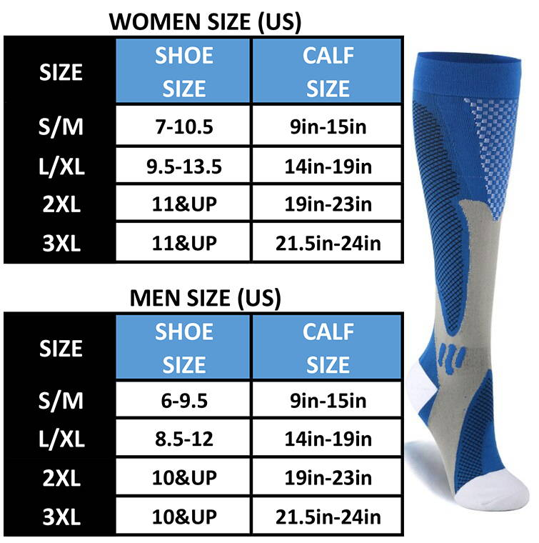 Best Compression Socks Size Chart