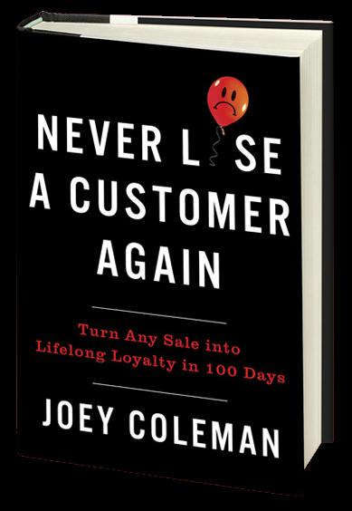 Never Lose a customer again book