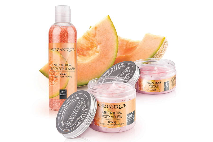 Firming Body Scrub Wash Melon from Organique brand cosmetics inspired by nature