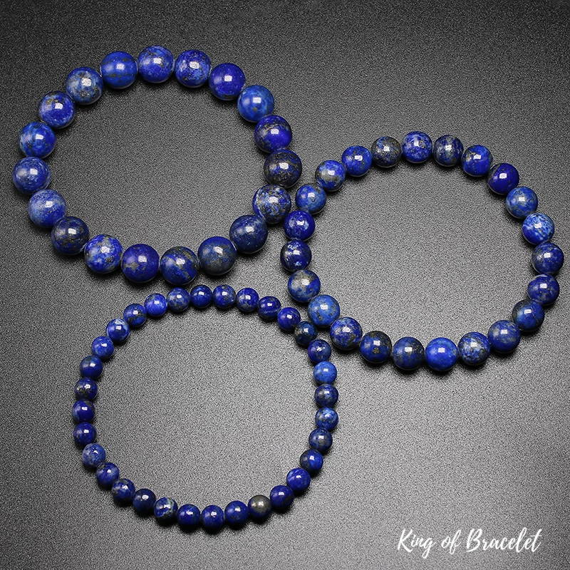 Bracelet en Perles de Lapis Lazuli - King of Bracelet