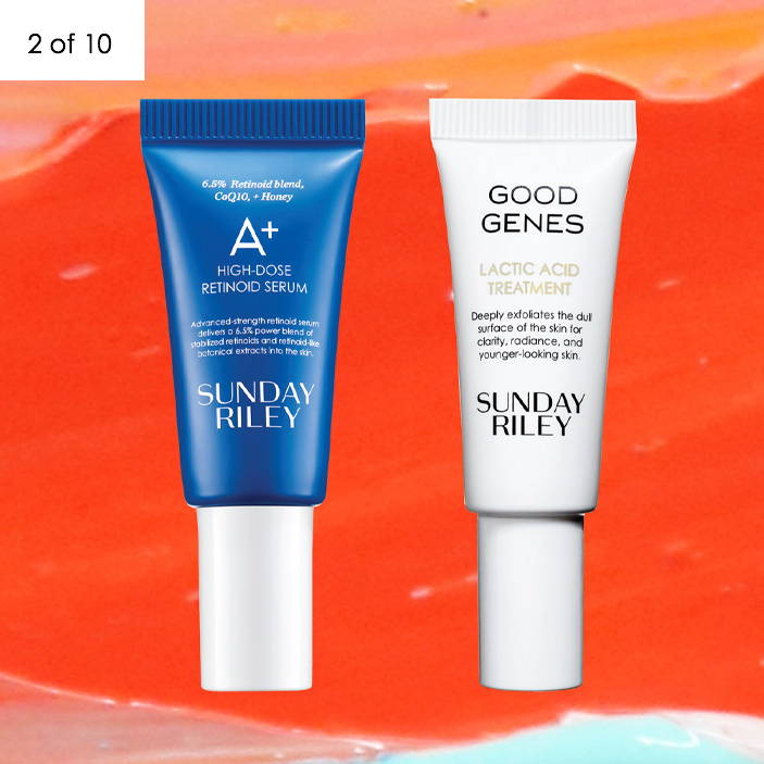 SUNDAY RILEY A+ High-Dose Retinoid Serum, 5 ML and Good Genes All-in-One Lactic Acid Treatment, 5ML