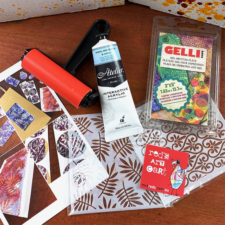 Label - What's inside December 19 Red's Art Cart?