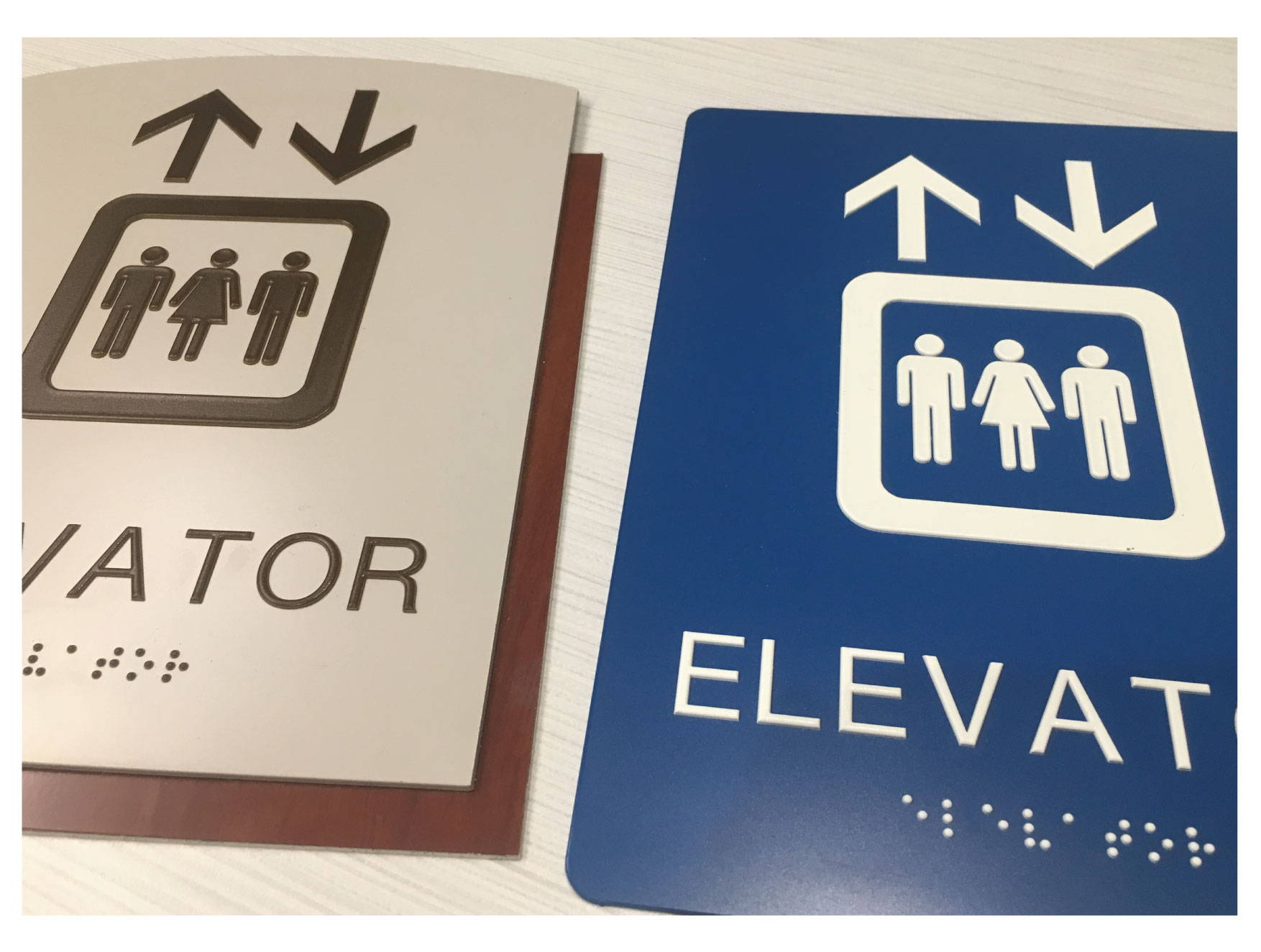 ADA Elevator Signs with Grade II Braille, Compliant ADA Signs