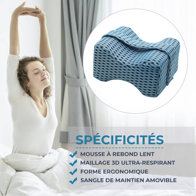 Sommeil sans douleur avec Le coussin pour genoux Leg-Pillow 3D