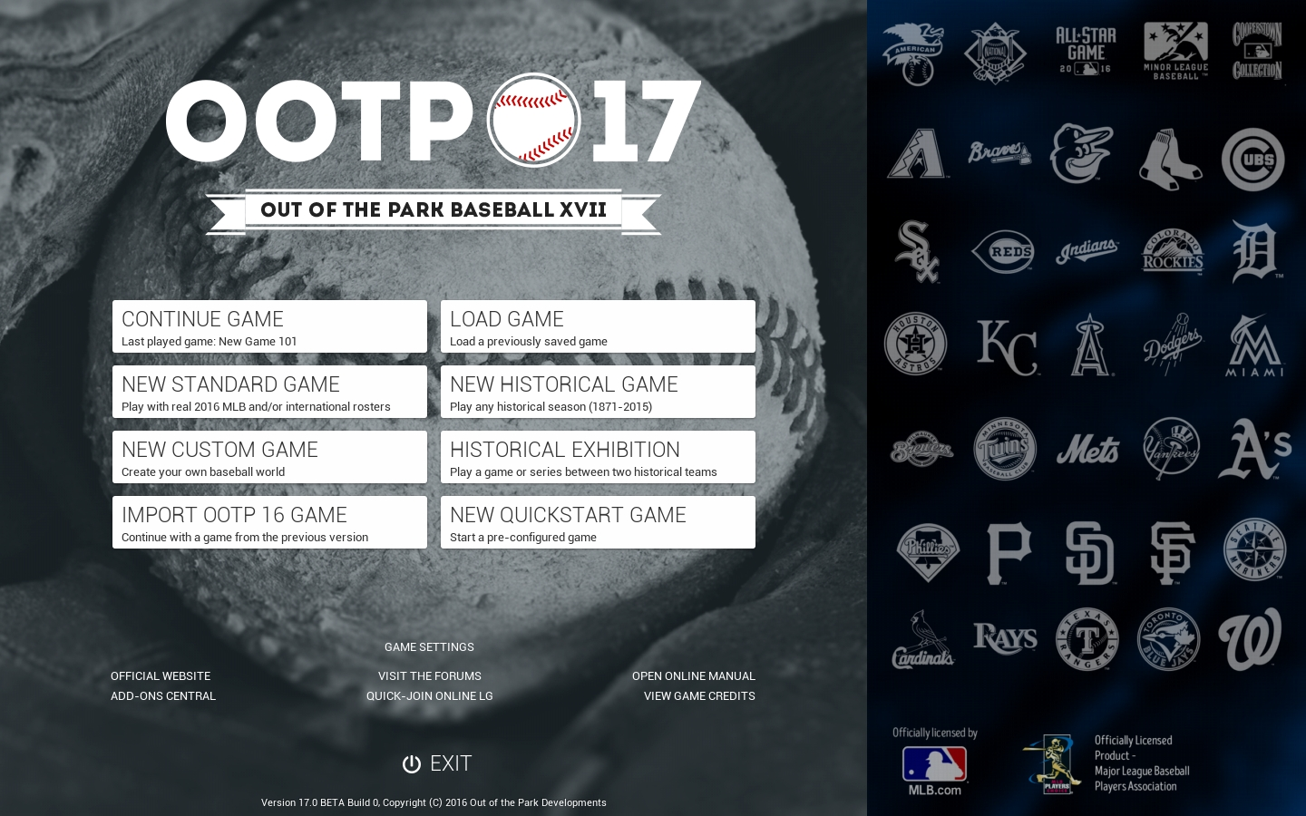 Out of the Park Baseball 17 - What are the best PC simulation games