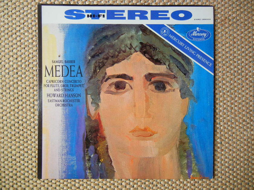 BARBER/ - MEDEA APRICORN, CONCERTO FOR FLUTE, OBOE, TRUMPET  & STRINGS/Mercury Living Presence SR90224 Color-Back