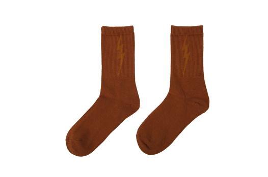 Оранжевые носки с рисунком (36-42)