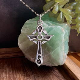 R.E. Piland Goldsmiths Sterling Silver Misneach Cross Celtic Festival Online