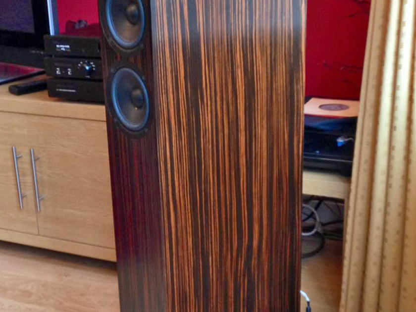 PMC Fact 8 Tiger Ebony Tower Speakers - Matched Pair 99.99% New