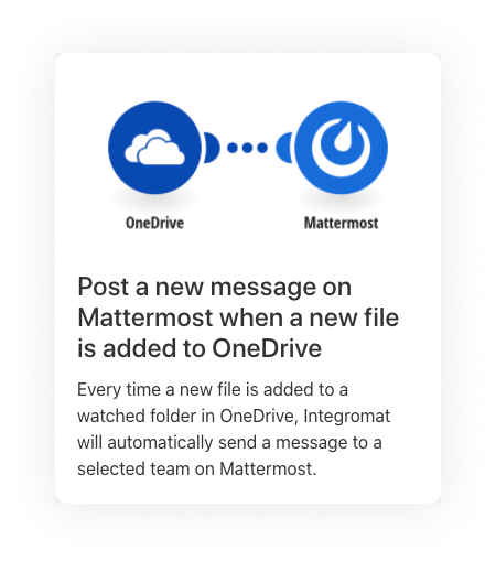 Mattermost and OneDrive integration