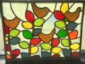 Stained Glass Birds and Leaves