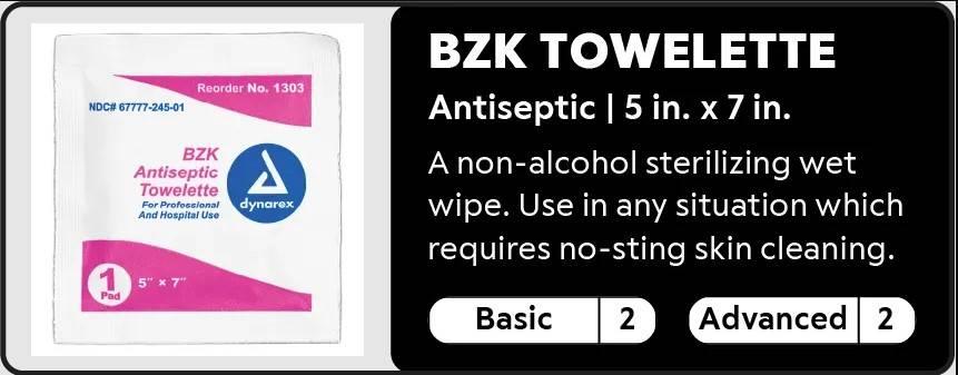 bzk towelette