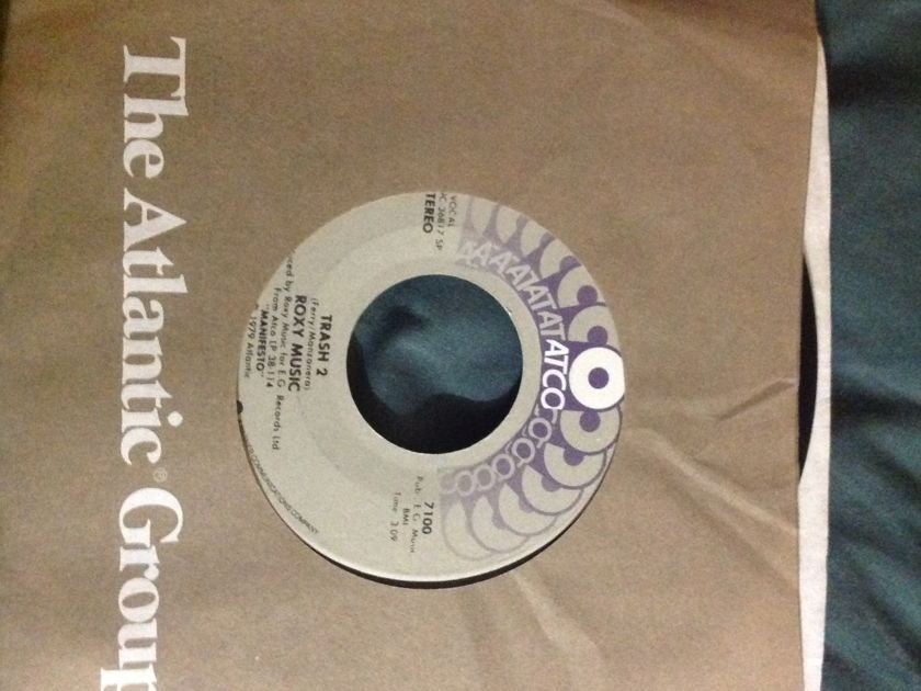 Roxy Music - Dance Away/Trash 2 Atco Label 45 NM