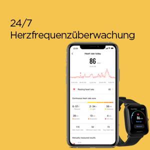 Amazfit Bip U - 24/7 Herzfrequenzüberwachung