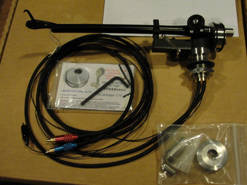 """Rega RB300  tonearm with Incognito wiring Expressimo """"Heavy Weight"""" upgrades"""