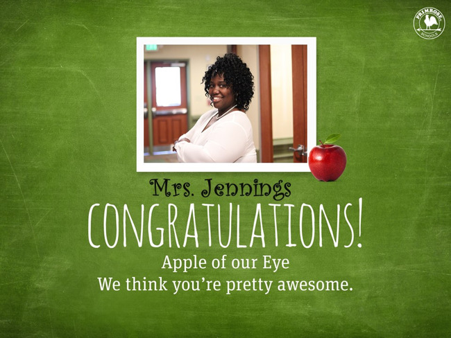 Congratulations on being our June Apple of Our Eye!