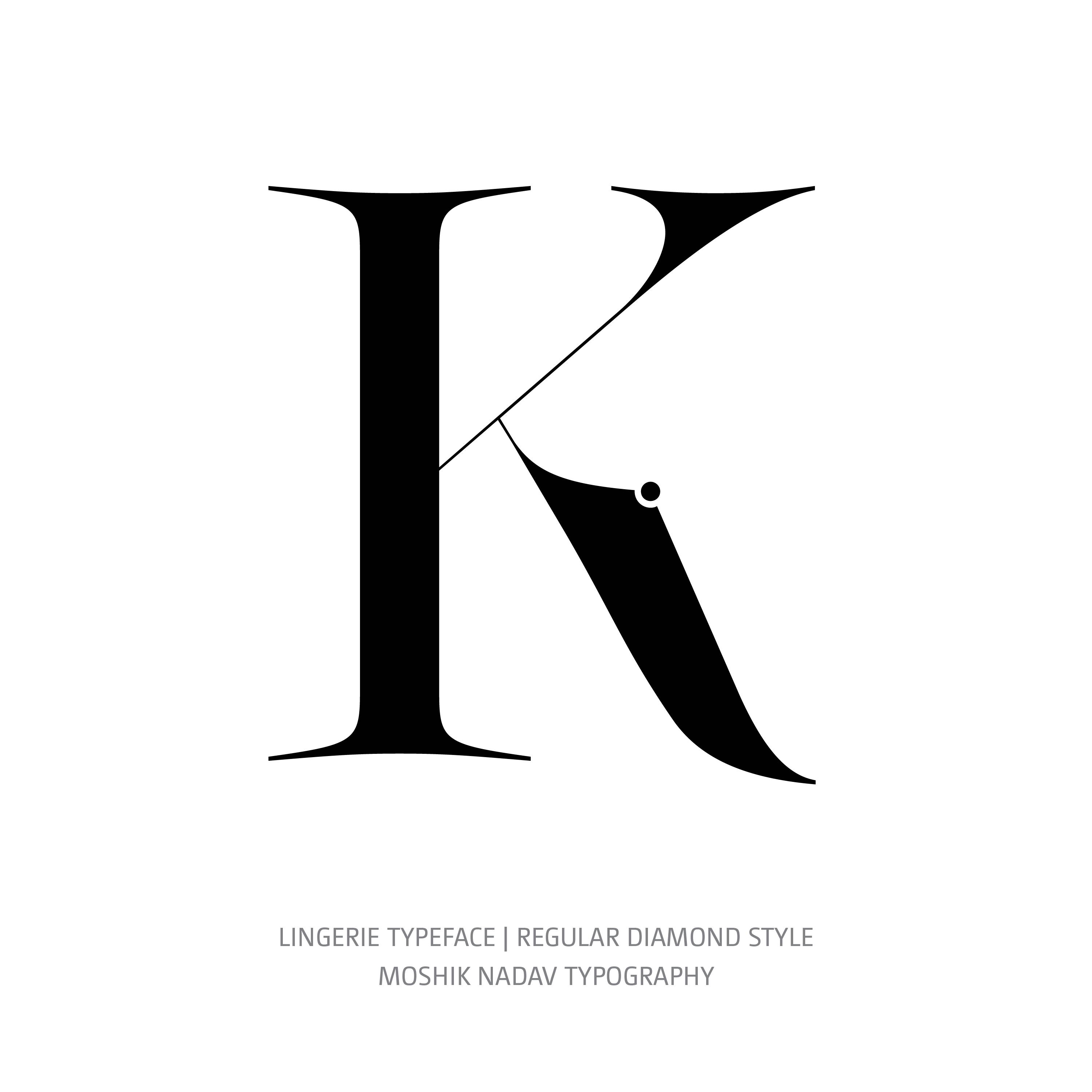 Lingerie Typeface Regular Diamond K