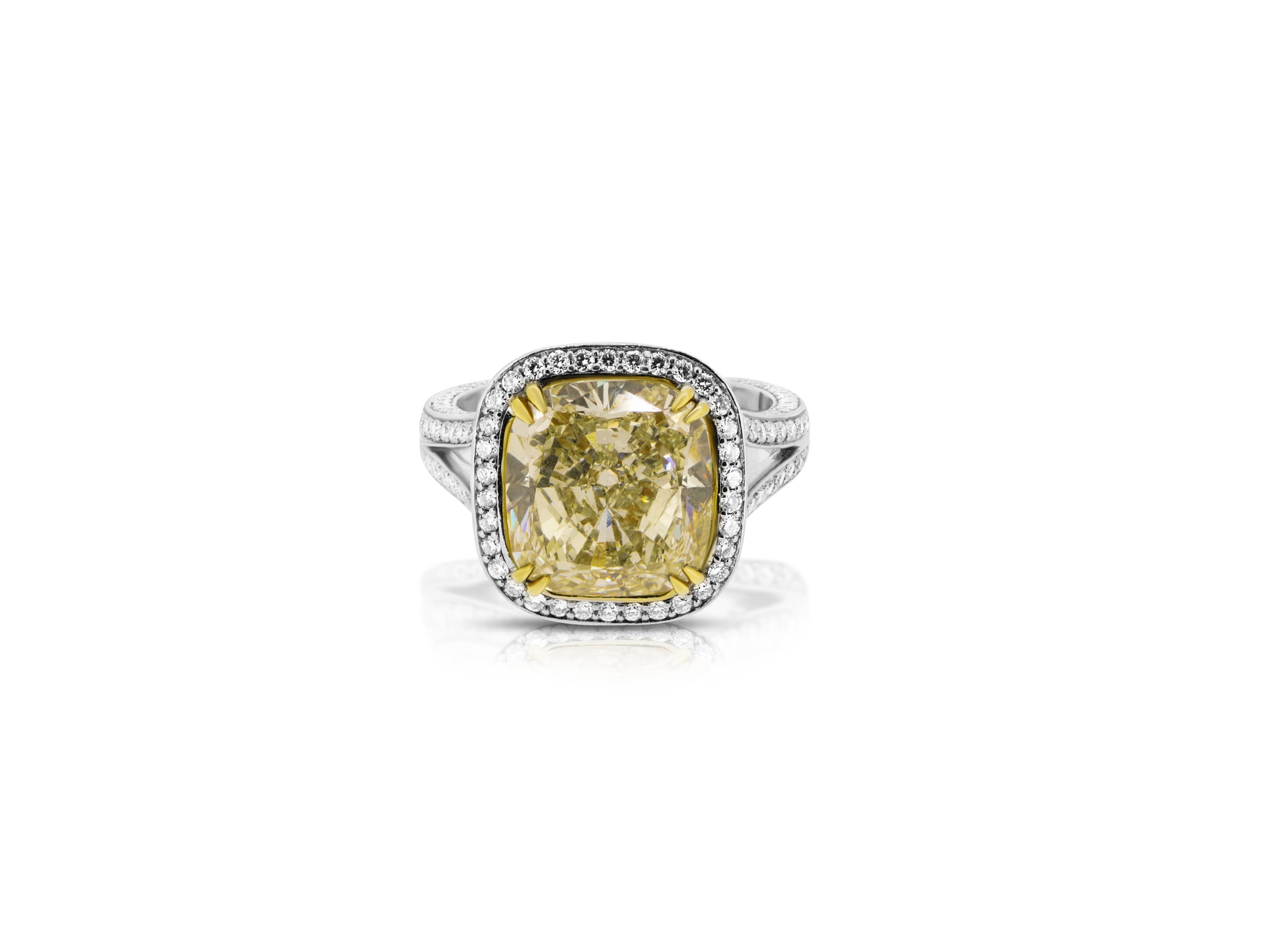 5ct yellow engagement ring