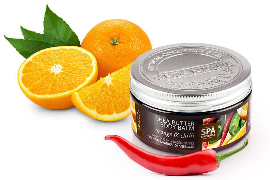 Organique regenerating And Moisturising Shea Body Butter Orange & Chilli 100ml