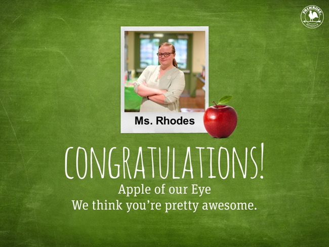 Apple of our Eye Ms. Rhodes