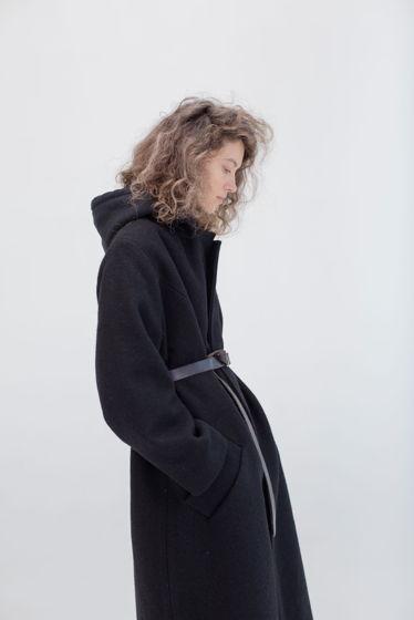 зимнее шерстяное пальто на хлопковой подкладке *лаконичность черного*