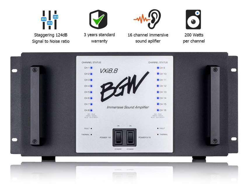 BGW Systems 3200 WATTS  16 CHANNELS ON A SINGLE CHASIS DESIGNED FOR COMMERCIAL THEATERS