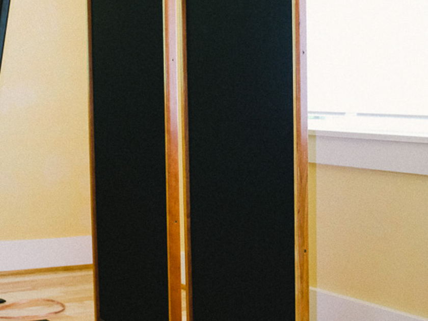 Magnepan  MMG -Sound good-Look decent-Priced accordingly.