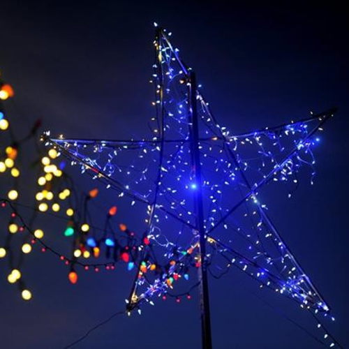 Picture of Surrounded by our Holiday Lights You will park in our drive-in for a great signature Blue Starlite Holiday Pre-Show and a 30-40 min. Classic Holiday show that we hand pick each night! A short and sweet Drive-in night out for friends and fam!