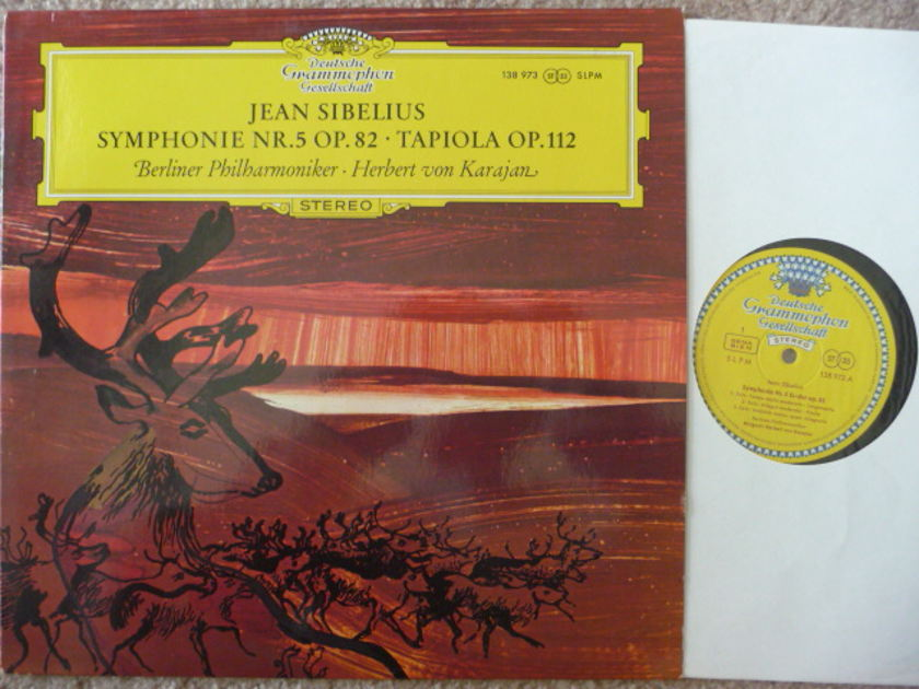 SIBELIUS  - Sym No. 5  DGG TULIP LP EXCEL