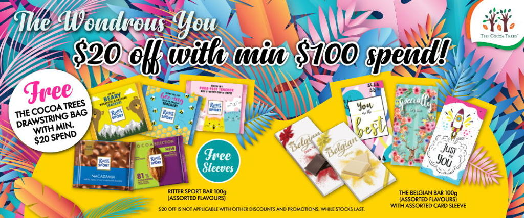 The Cocoa Trees         Enjoy free delivery with $60
