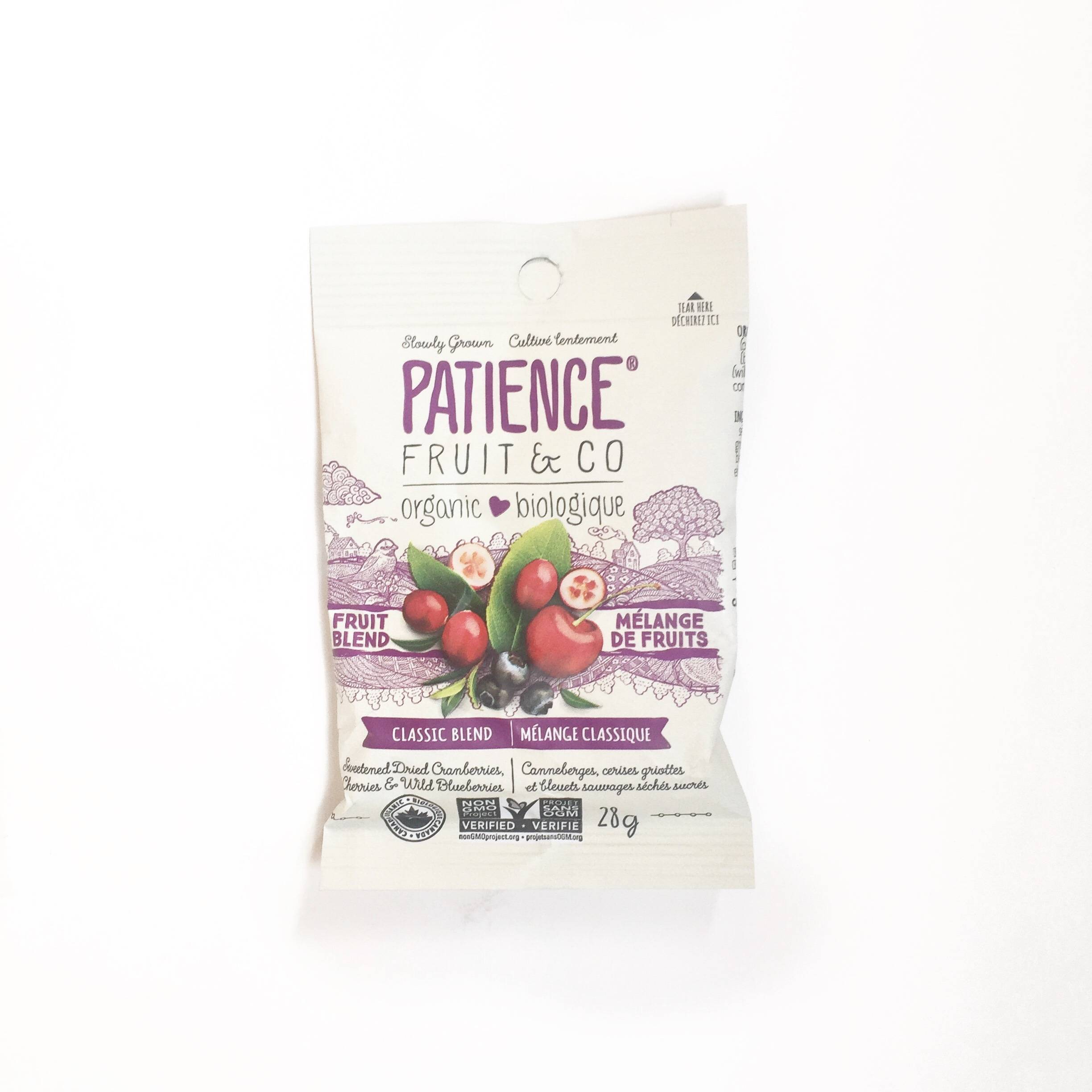 patience fruits & co melange fruits canneberge