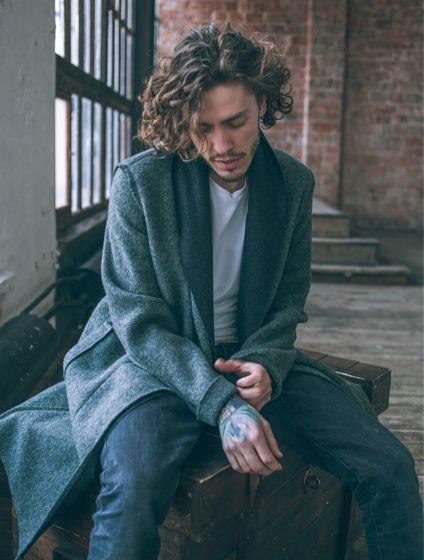Легкое пальто с двойным бортом #25