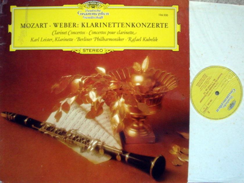 DGG / LEISTER-KUBELIK, - Mozart-Weber Clarinet Concertos, NM!