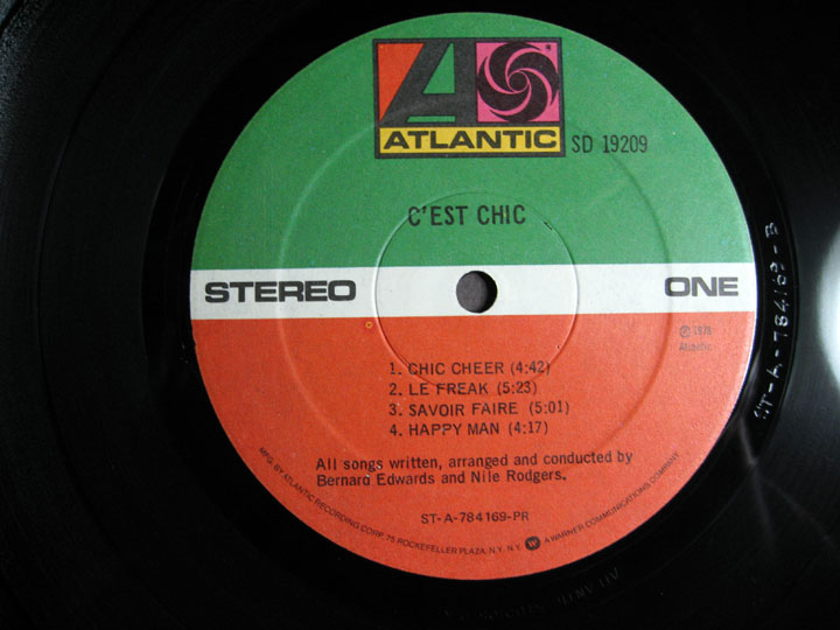 Chic - C'est Chic - 1978 Atlantic SD 19209