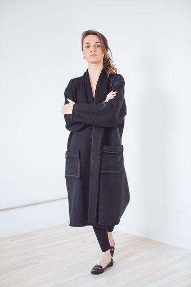 весеннее шерстяное пальто с тесьмой *а-ля ретро*