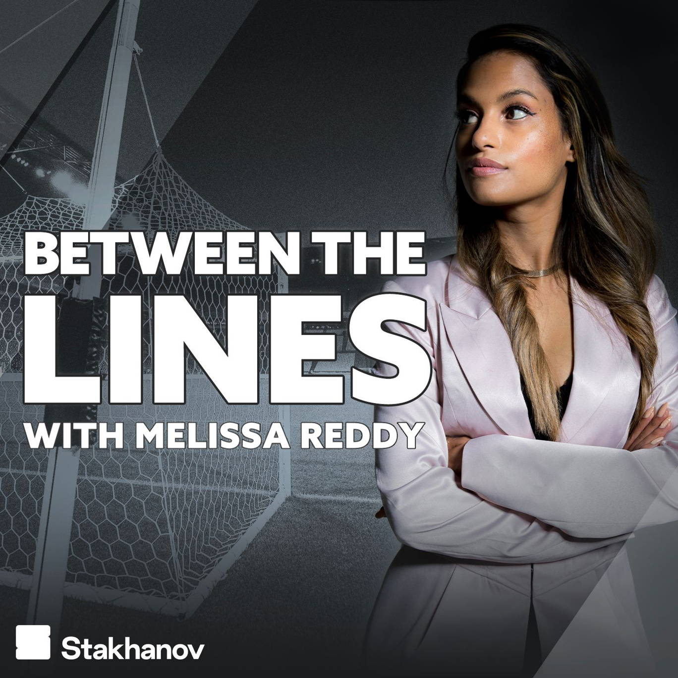 The artwork for the Between The Lines with Melissa Reddy podcast.