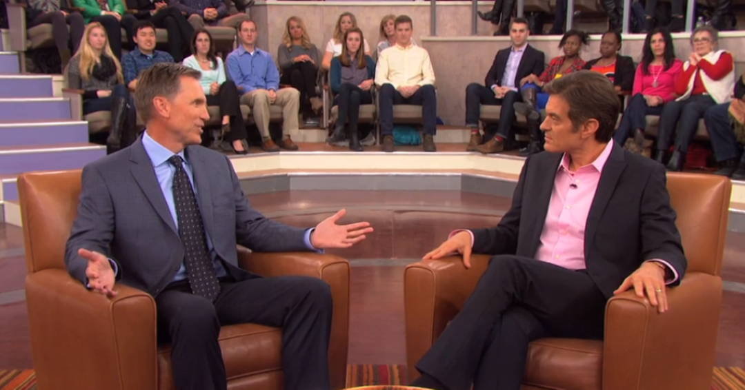 Dr. Murray being interviewed on The Dr. Oz Show about the power of natural medicine.