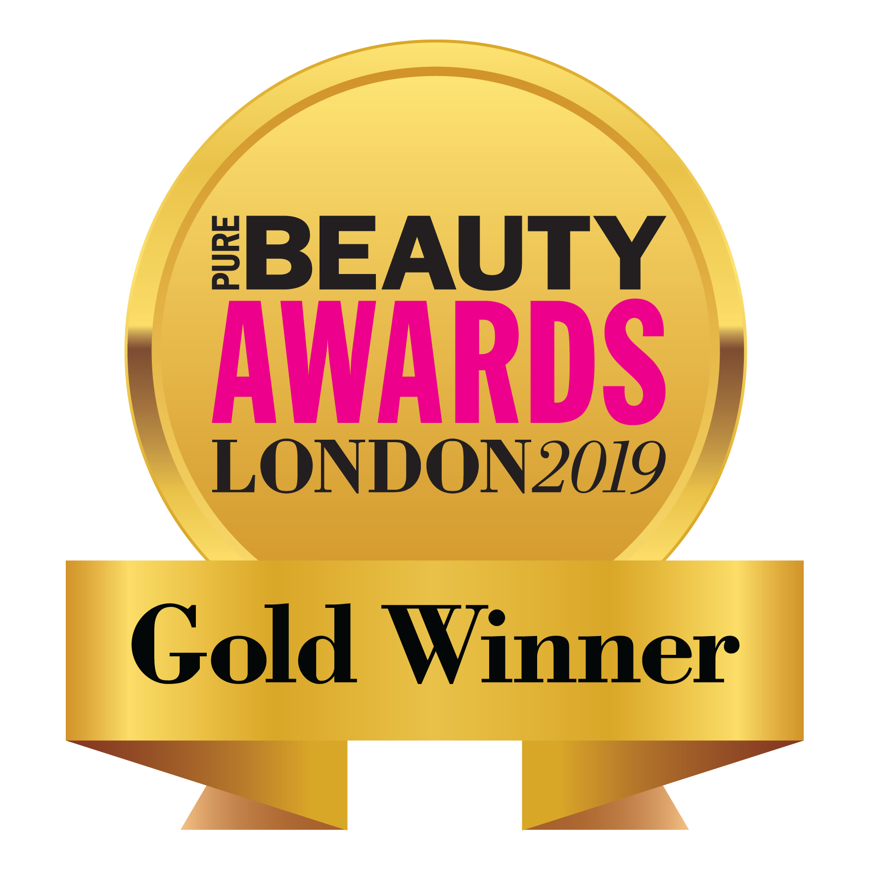 Pure Beauty Awards London 2019 Gold Winner