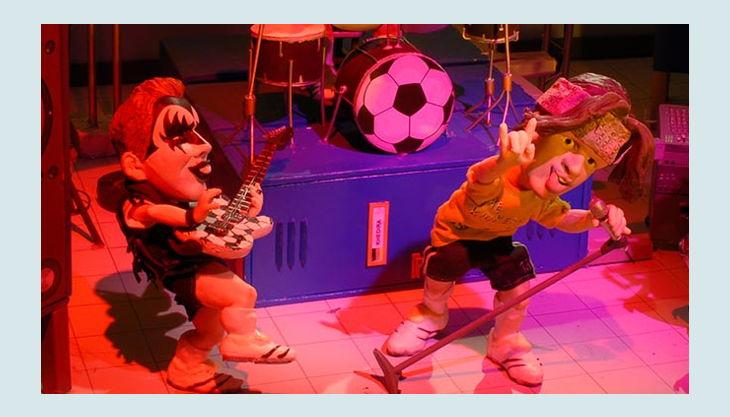 bester geburtstagde trickfilmland studio tour band knete rock gitarre sänger