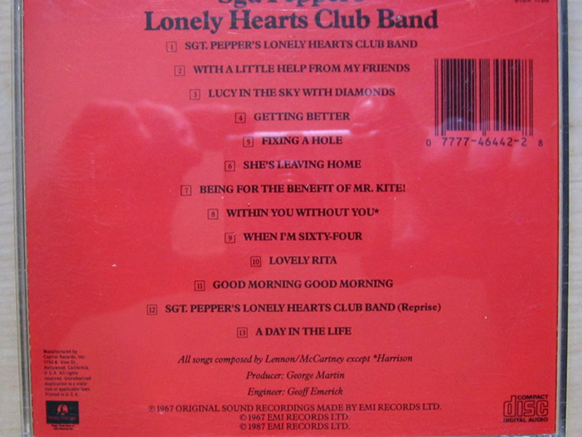 The Beatles - Sgt. Pepper's Lonely Hearts Club Band  - 1987 Reissue Parlophone CDP 7 46442 2