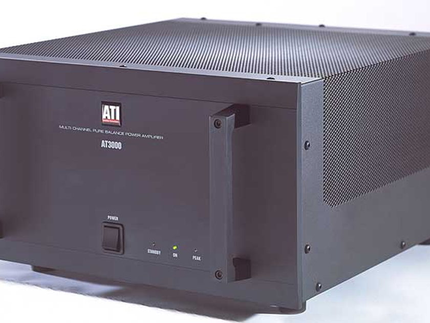 ATI AT3007 300 x 7 POWER AMP One blk finish NEW