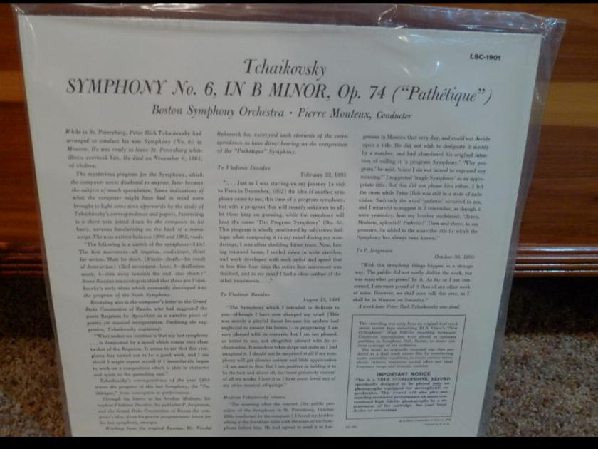 Boston Symphony (Montuex) - Tschaikowsky Pathetique Symphony lsc-1901 Classic Records original reissue 180G 1990's Sealed