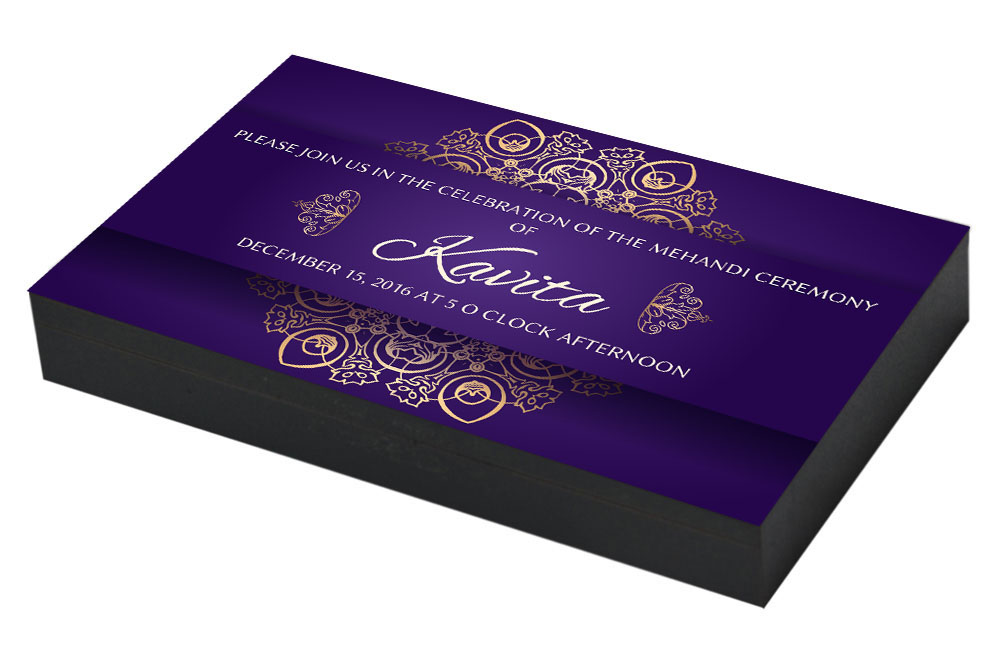 Customised Mehndi ceremony Invitation