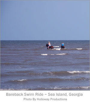 Bareback Swim Ride - Sea Island, Georgia