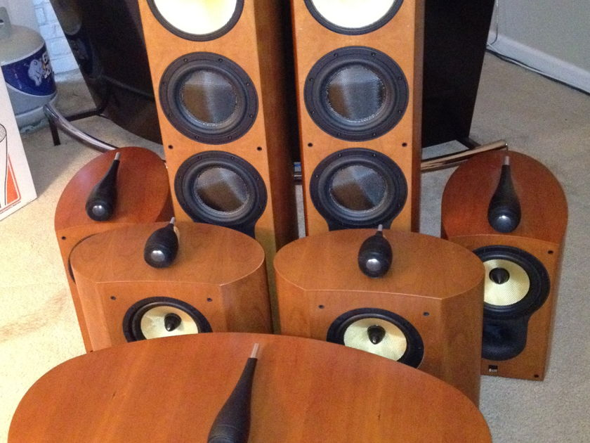 B&W Bowers and Wilkins HTM3S in Cherry with original box