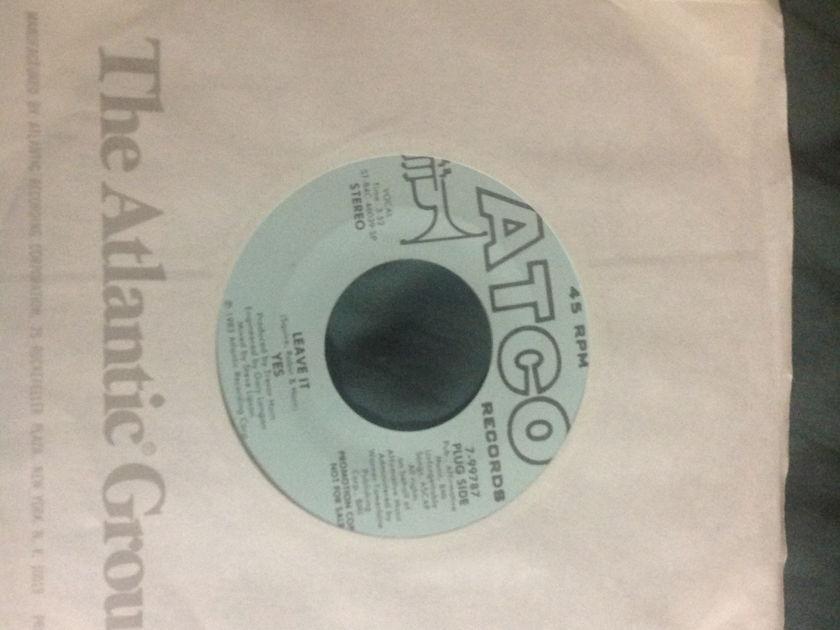 Yes - Leave It Promo 45 A Capella Version NM Atco Label
